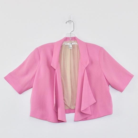 XXI Jackets & Blazers - XXI Crop Short Sleeve Blazer Ruffle Front Medium M